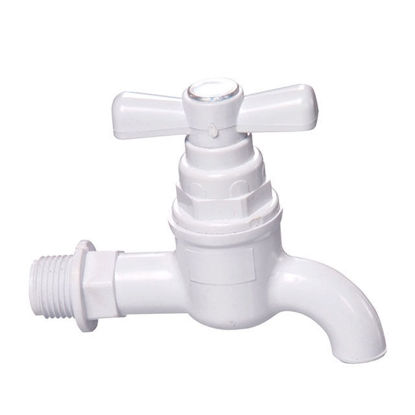 Picture of Omega Plastic Tap Faucet Screw Type with Plain Bib 1/2 in x 4 in, PT-8126
