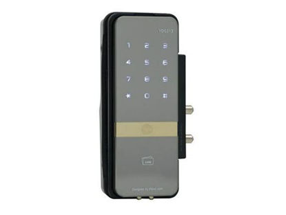 Picture of PIN Code, RF Card Key & Remote Control (Optional) (Rim Lock for Glass Doors) - YDG 313