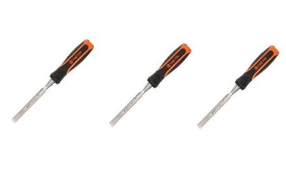 "Picture of Tactix 3 pcs. Wood Chisel Set 13mm (1/2"") , 19mm (3/4""), 25mm (1"")"