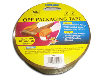 Picture of KL & LING Int Inc Packaging Tape KIOPLBRN