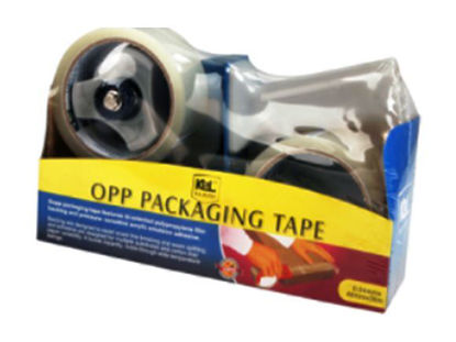 Picture of KL & LING Int Inc Packaging Tape with Dispenser KI614K/2CBCLR