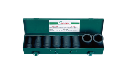 "Picture of Hans 1"" Drive 8 Pcs. Deep Impact Socket Set - 88610 - Inches Size"