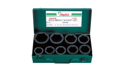 "Picture of Hans 1"" Drive 9 Pcs. Impact Socket Set - 86609 - Inches Size"