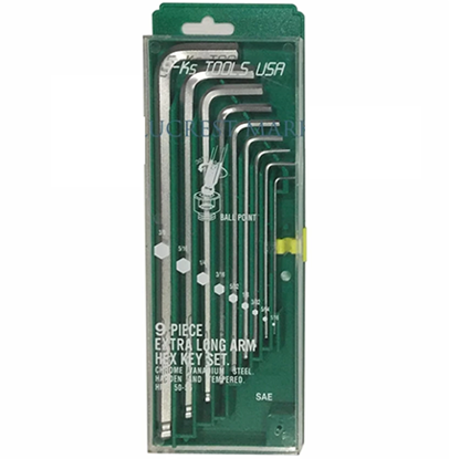 Picture of S-Ks Tools USA 043-9VHC Extra Long Arm Ball Point Allen Wrench Set (Silver) - Inches Size