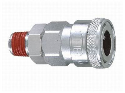 "Picture of THB 1/4"" Zinc Quickly Coupler Body - Male End"