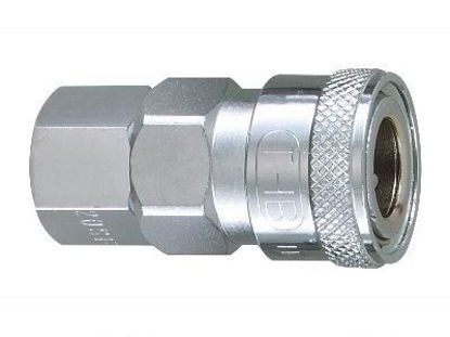 "Picture of THB 1/4"" Zinc Quick Coupler Body - Female End"