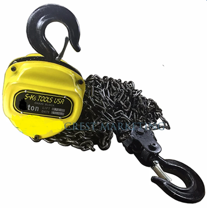 Picture of S-Ks Tools USA 2T Heavy Duty 2 Tons Chain Block (Yellow/Black)