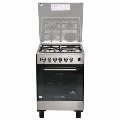 Picture of La Germania FS6031 21XTR 60cm range, 3 Gas + 1 Electric Hotplate | Gas Thermostat Oven with Safety Device │ Electric Grill with Rotisserie