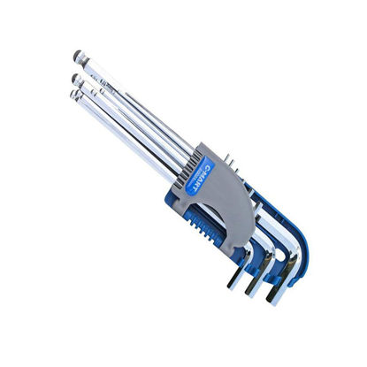 Picture of 9-Piece ball Hex Key Set, Extra Long Arm F0021