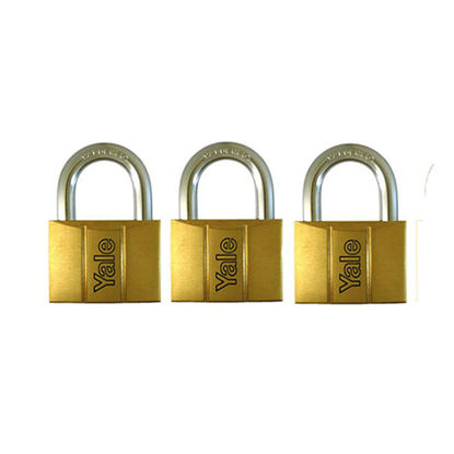 Picture of Brass Padlocks Key Alike 3 Pieces, Multi-Pack V140.40KA3