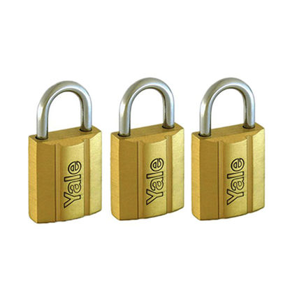 Picture of Brass padlocks Key Alike 3 Pieces, Multi-pack V140.30KA3