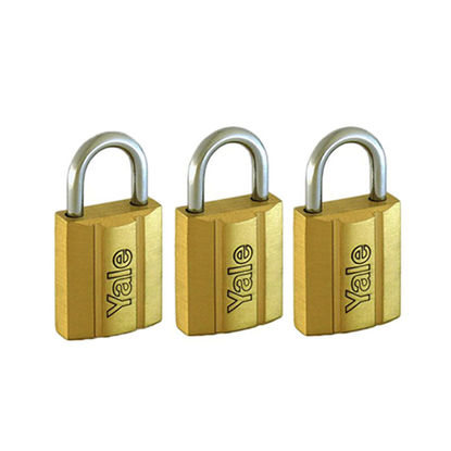 Picture of Brass Padlocks Key Alike 3 Pieces, Multi-Pack V140.25KA3