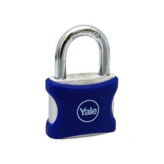 Picture of Yale , YE3/38/119/1BL, PVC Wrapped Aluminum Body Padlock, Blue, YE3381191BL