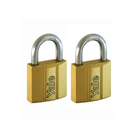 Picture of Yale V140.25 KA2, Standard Shackle Brass Padlocks 140 Series Key Alike 2, V14025KA2