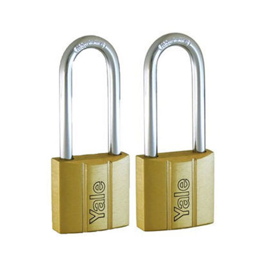 Picture of Yale V140.40 LS60 KA2, Long Shackle Brass Padlocks 140 Series Key Alike 2, V14040LS60