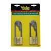 Picture of Yale V140.50 LS90 KA2, Long Shackle Brass Padlocks 140 Series Key Alike 2, V14050LS90