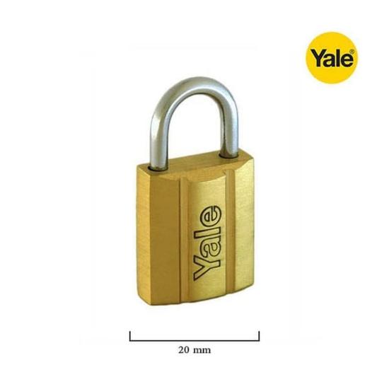 Picture of Yale V14020, Brass Padlock 20mm, V14020