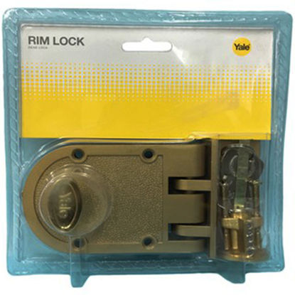 Picture of Yale V198GL,V198AB, Single Rim Lock Deadbolt, YV198AB