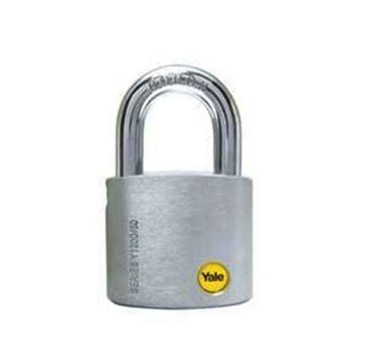 Picture of Yale Y120/50/127/1, Solid Brass Body Padlock, Satin Chrome 50mm, Y120501271