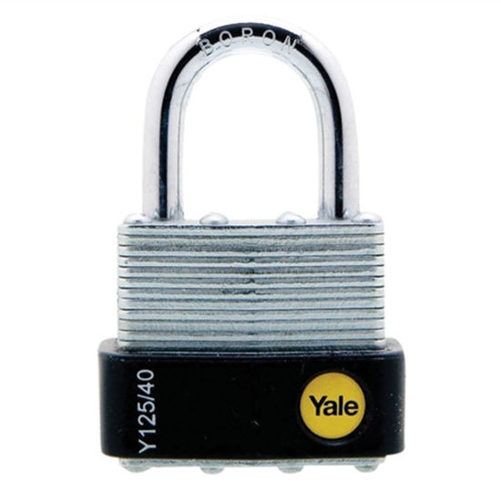 Picture of Yale Y125/40/122/1, Laminated Steel Padlock 40mm, Y125401221