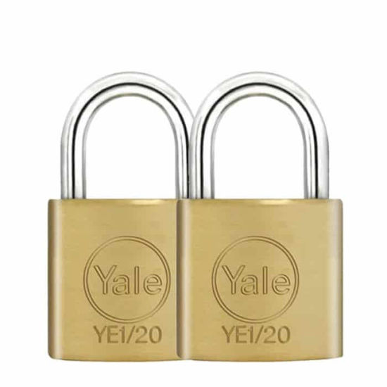 Picture of Yale YE1/20/111/2, Essential Series Indoor Solid Brass Padlock 20mm, YE1201112