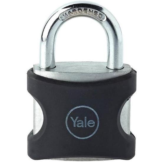 Picture of Yale YE3/32/116/1/BK, PVC Wrapped Aluminum Body Padlock, Black, YE3321161BK