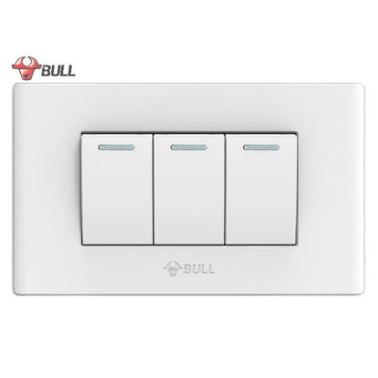 Picture of Bull 3 Gang 3 Way Switch Set (White), G04K322A